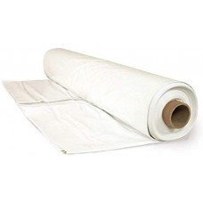 Poly Cover - Plastic Sheeting - White - 6mil - 100' Lengths - *Select Width*