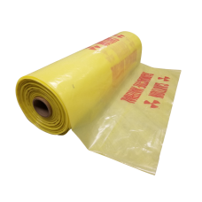 "38"" x 65"" Yellow 6 mil Radioactive Waste Disposal Bags"