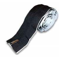 Heavy Duty Double Sided Adhesive Zipper for Dust Barriers